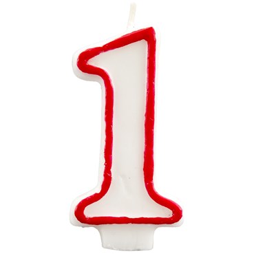 #1 Red Outline Candle