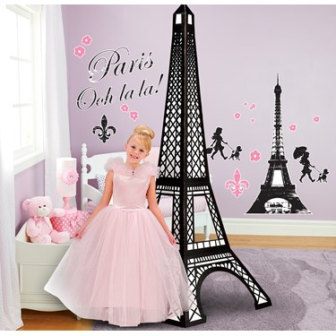 paris damask giant wall decals and standup kit. Black Bedroom Furniture Sets. Home Design Ideas