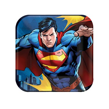 Superman Square Dessert Plates (8)