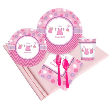 Baby Shower Girl Shower With Love Party Pack (8)
