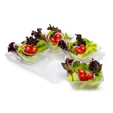 11.5 Clear Plastic Square Serving Tray