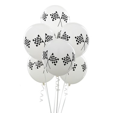 "11"" Racing Flags Balloons"
