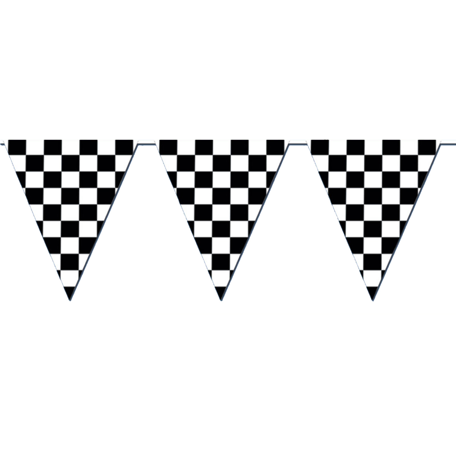 120u0027 checkered outdoor pennant banner