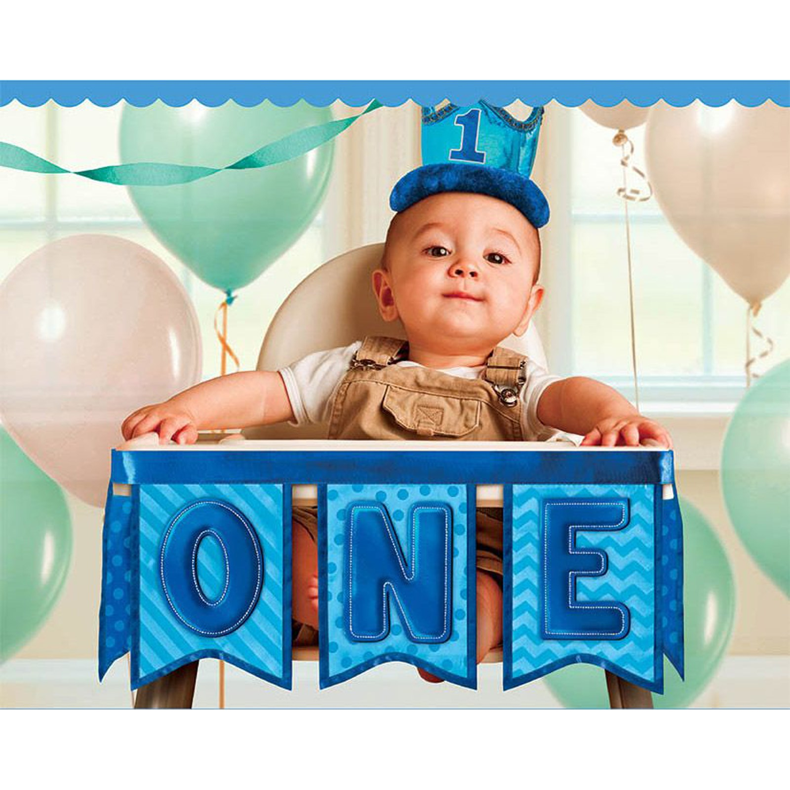 1st Birthday Boy Deluxe High Chair Decoration  BirthdayExpress.com
