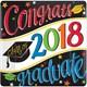 Default Image - 2018 Graduation Colorful 7 Square Dessert Plate (18 Count)