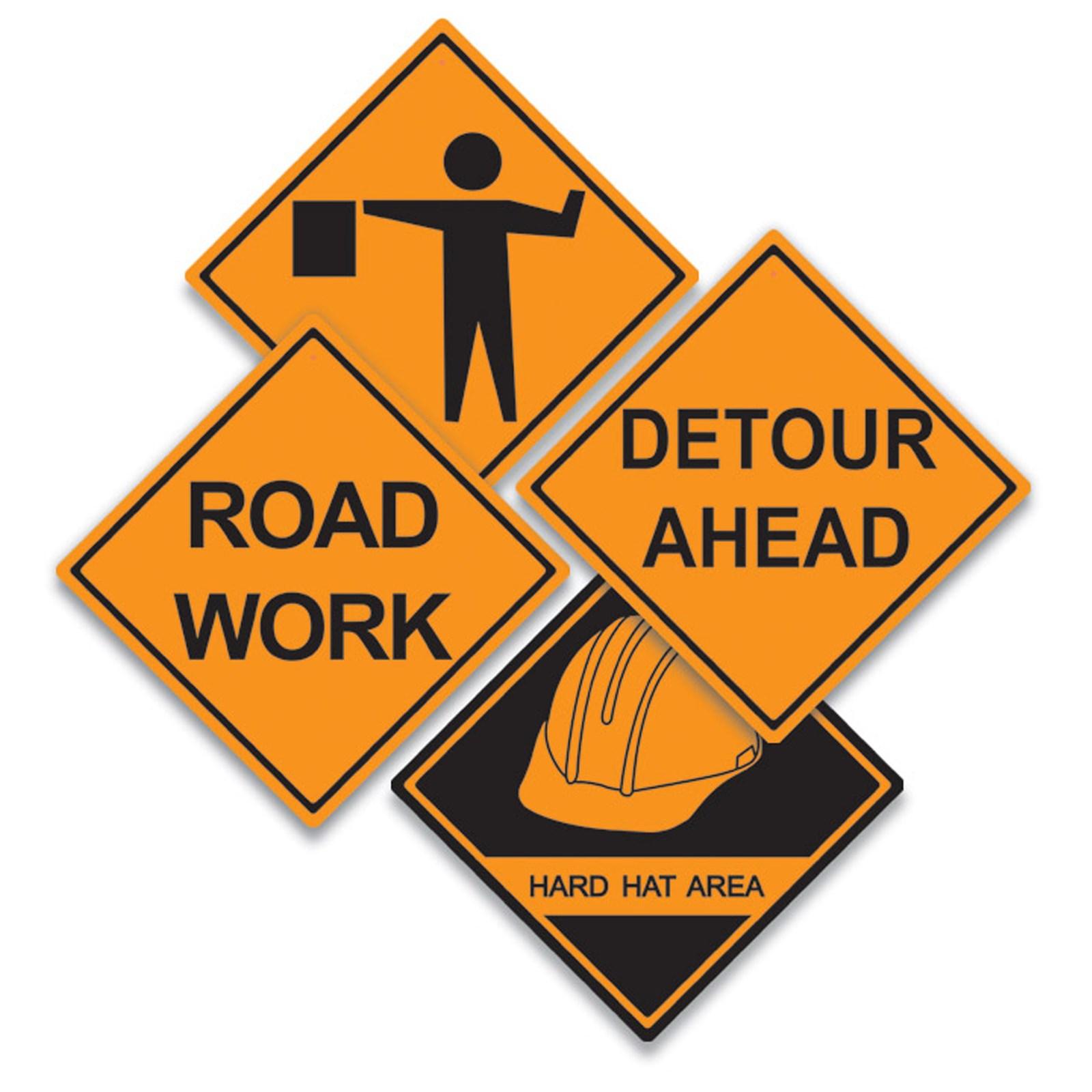 Cartoon Construction Signs Construction Sign Cutouts