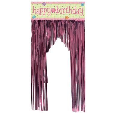 Happy Birthday Foil Door Fringe