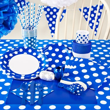 Blue and White Dots Party Packs
