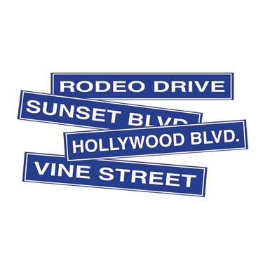 Hollywood Road Sign Cutouts