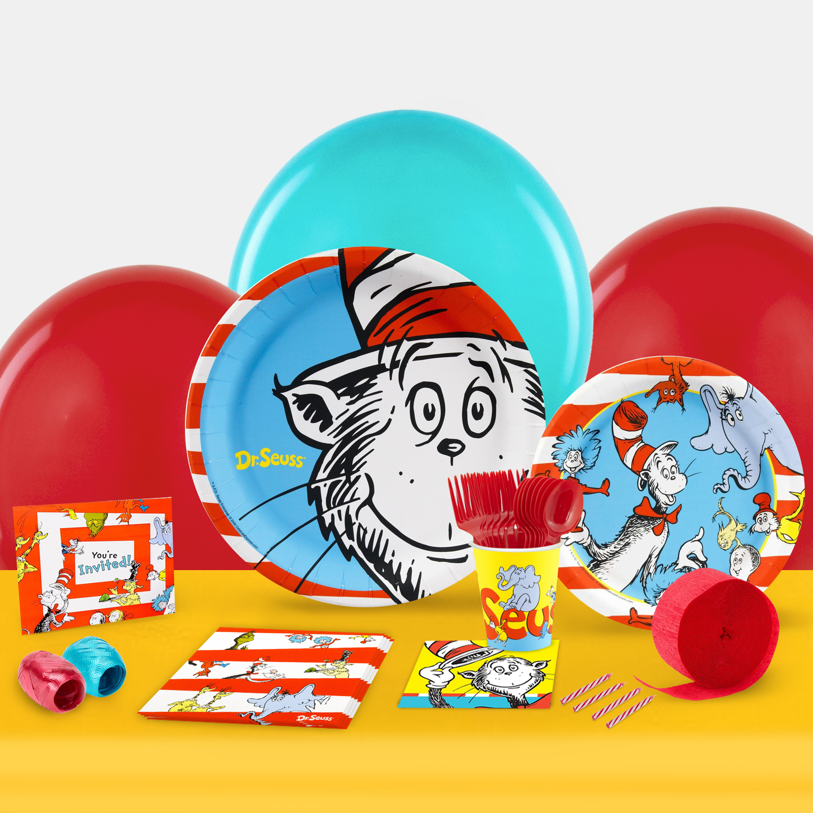 Dr. Seuss Party in a Box For 8-Basic - For 8