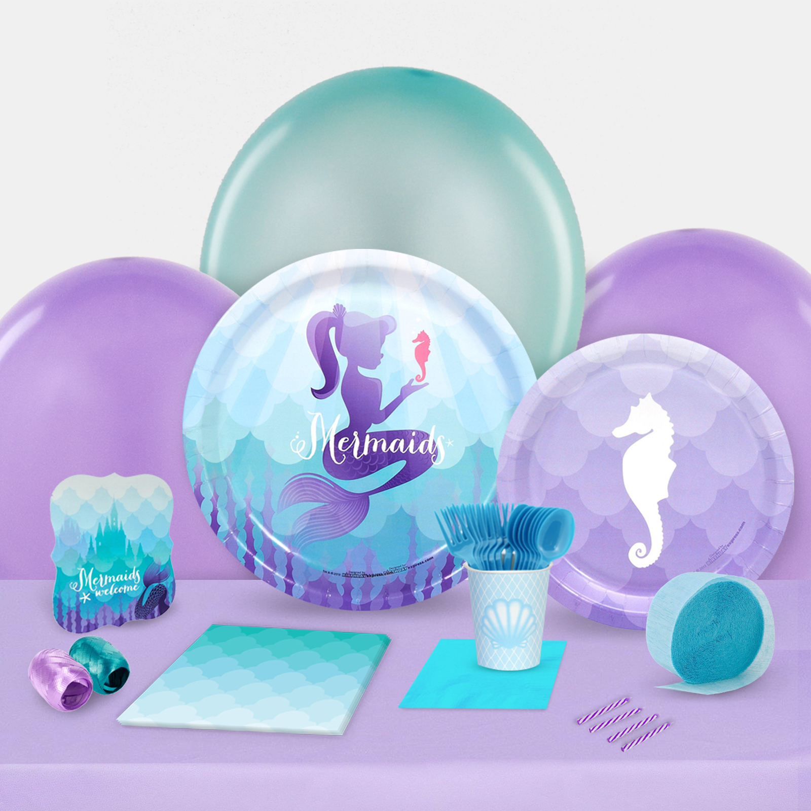 Mermaids Under the Sea Party in a Box For 8-Basic