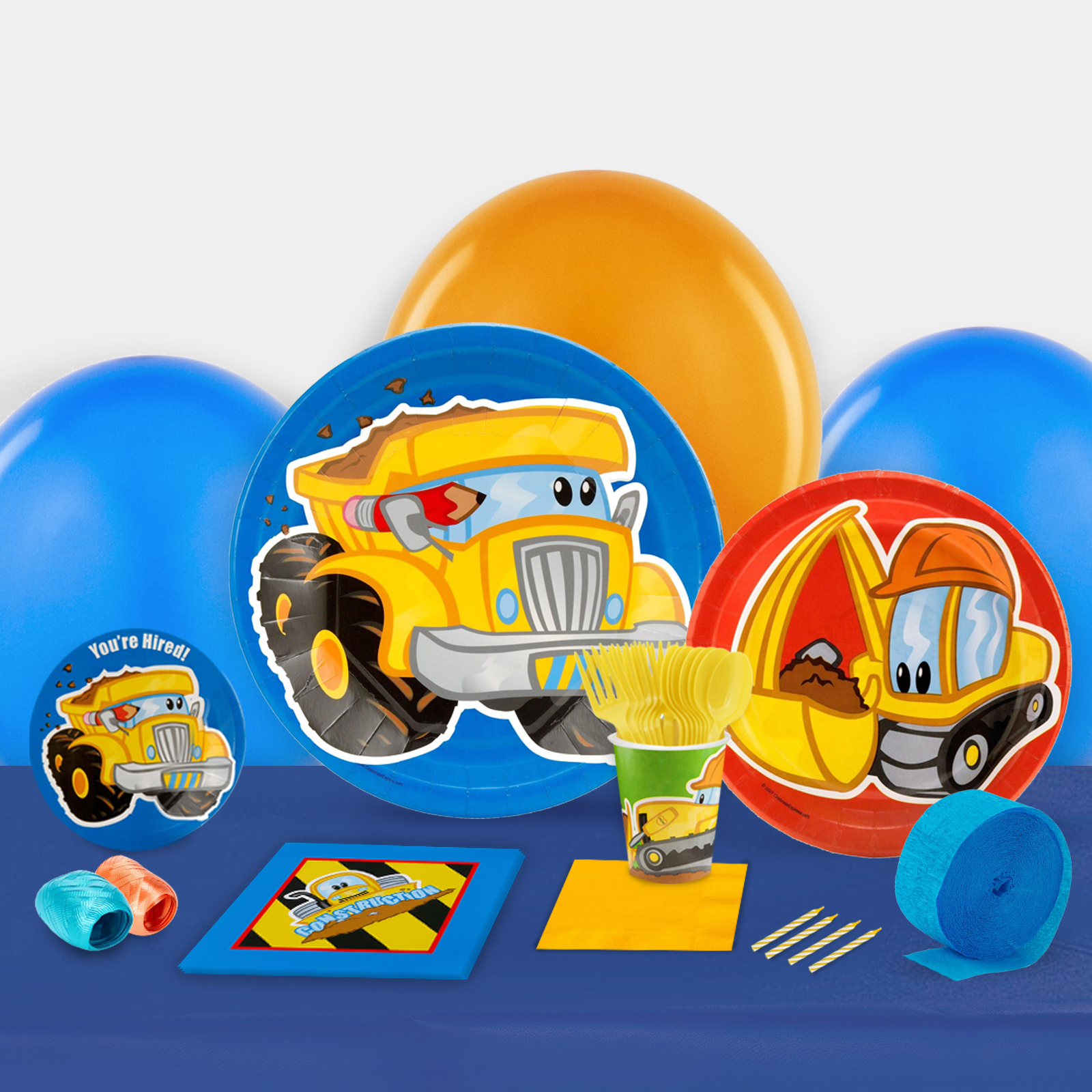 Construction Pals Party in a Box For 8-Basic