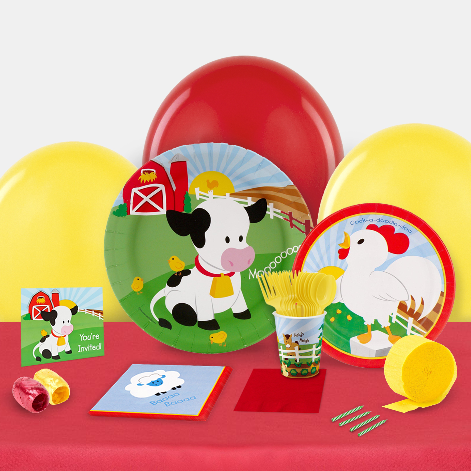 Barnyard Party in a Box For 8-Basic
