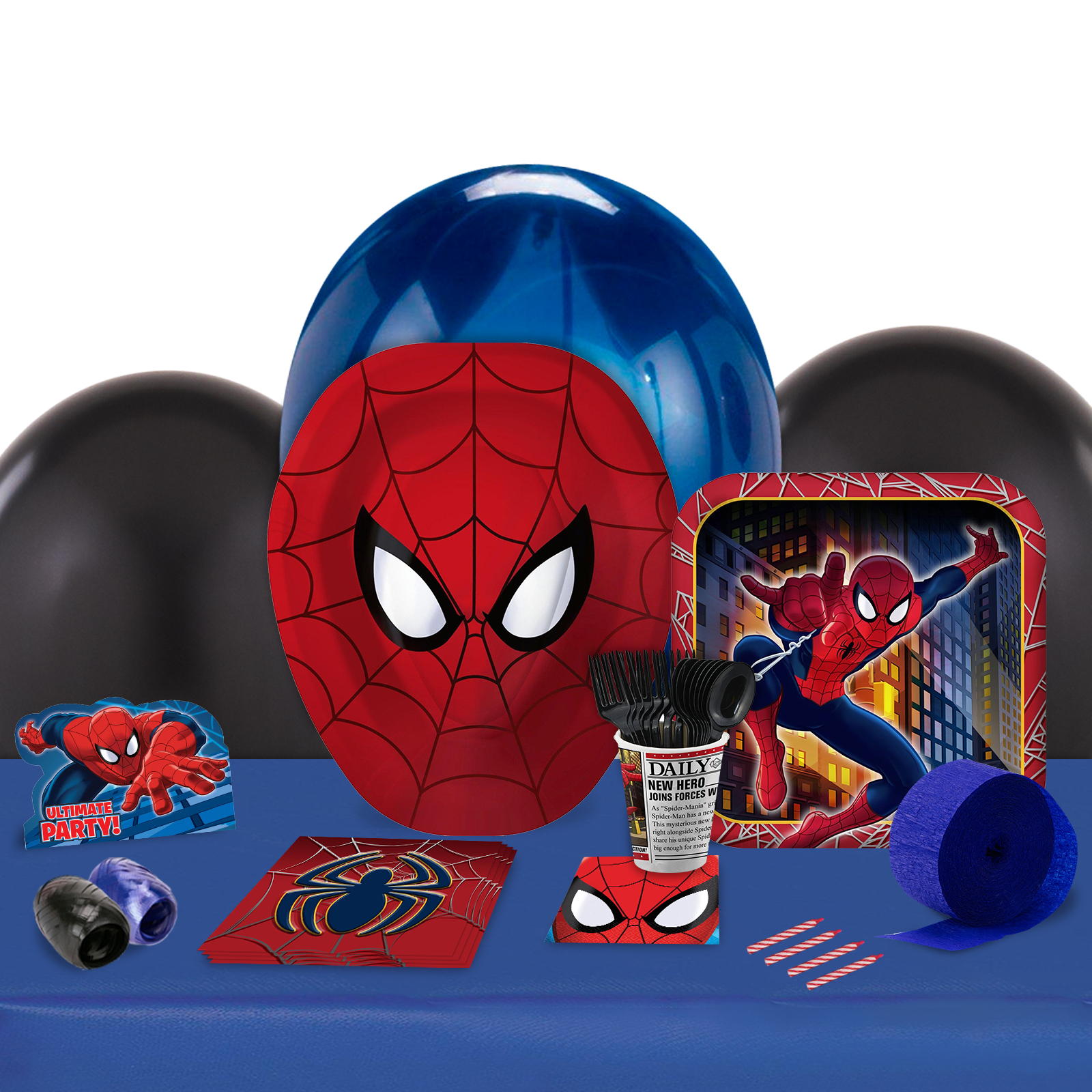 Spiderman Party in a Box For 8-Basic
