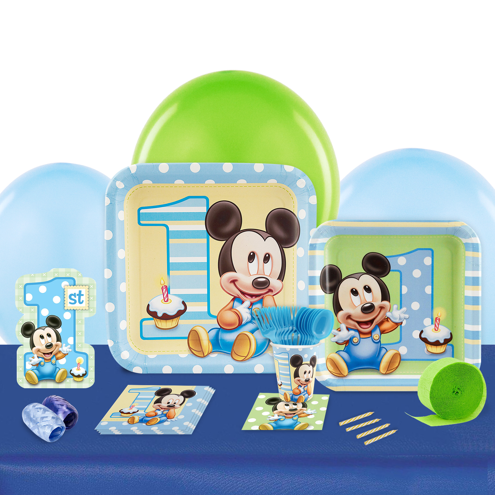 Mickey 1st Birthday Party in a Box For 8-Basic