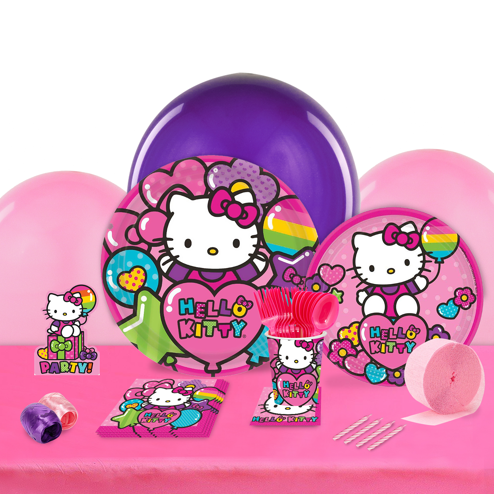 Hello Kitty Rainbow Party in a Box For 8-Basic