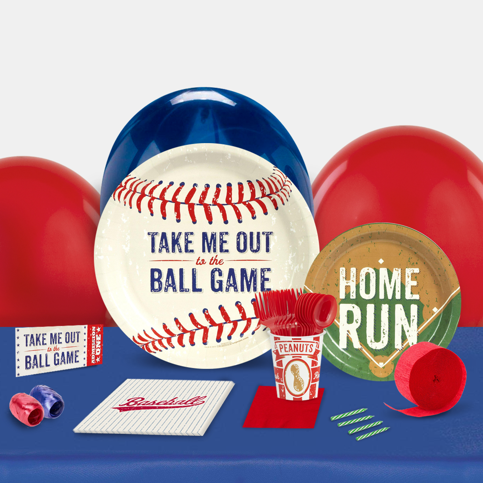 Baseball Time Party in a Box For 8-Basic