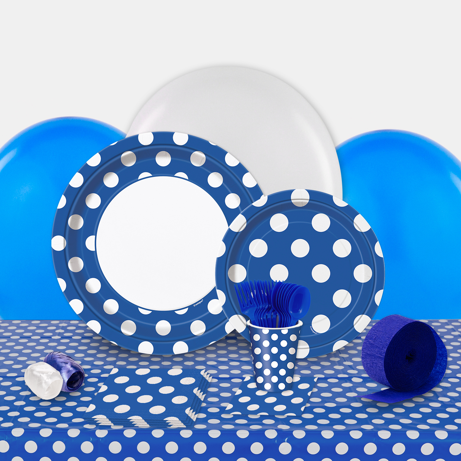 Blue and White Dots Party in a Box-Basic