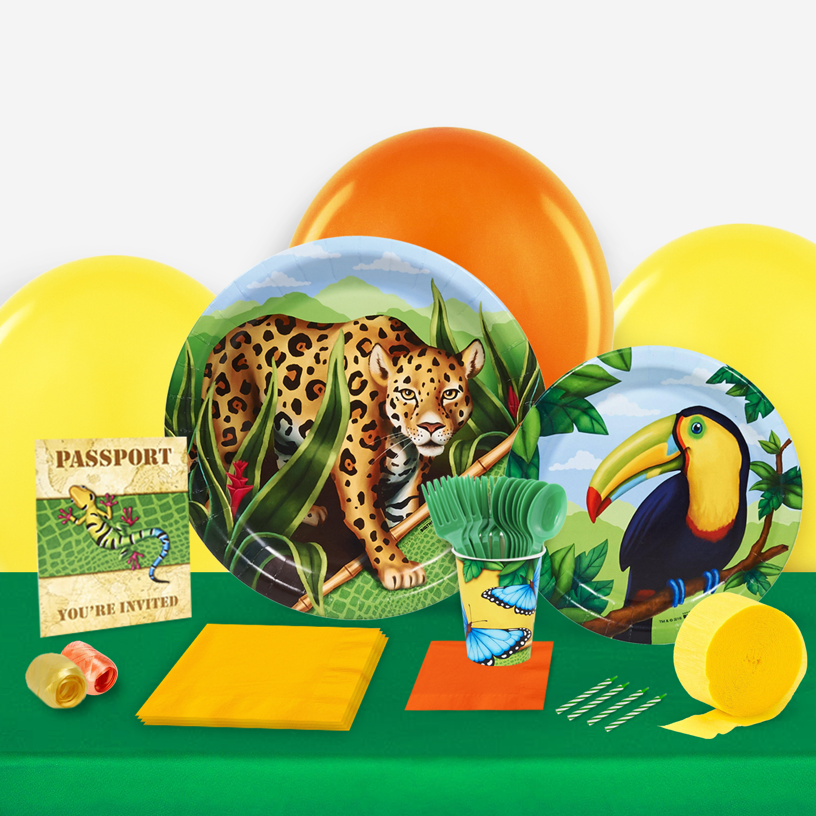 Jungle Party in a Box For 8-Basic
