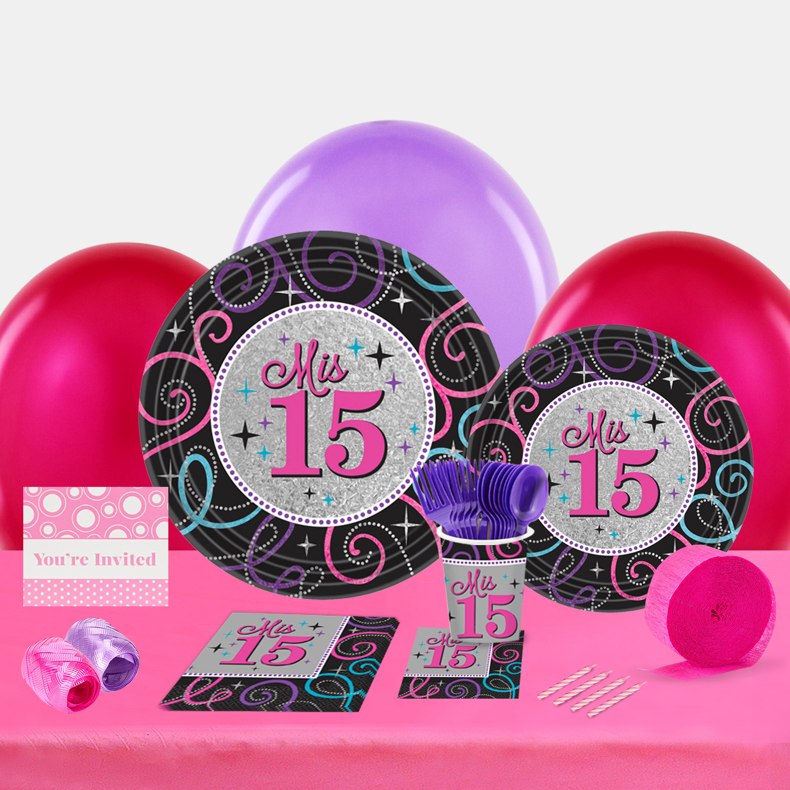 Mis Quince Anos Party In a Box For 8-Basic