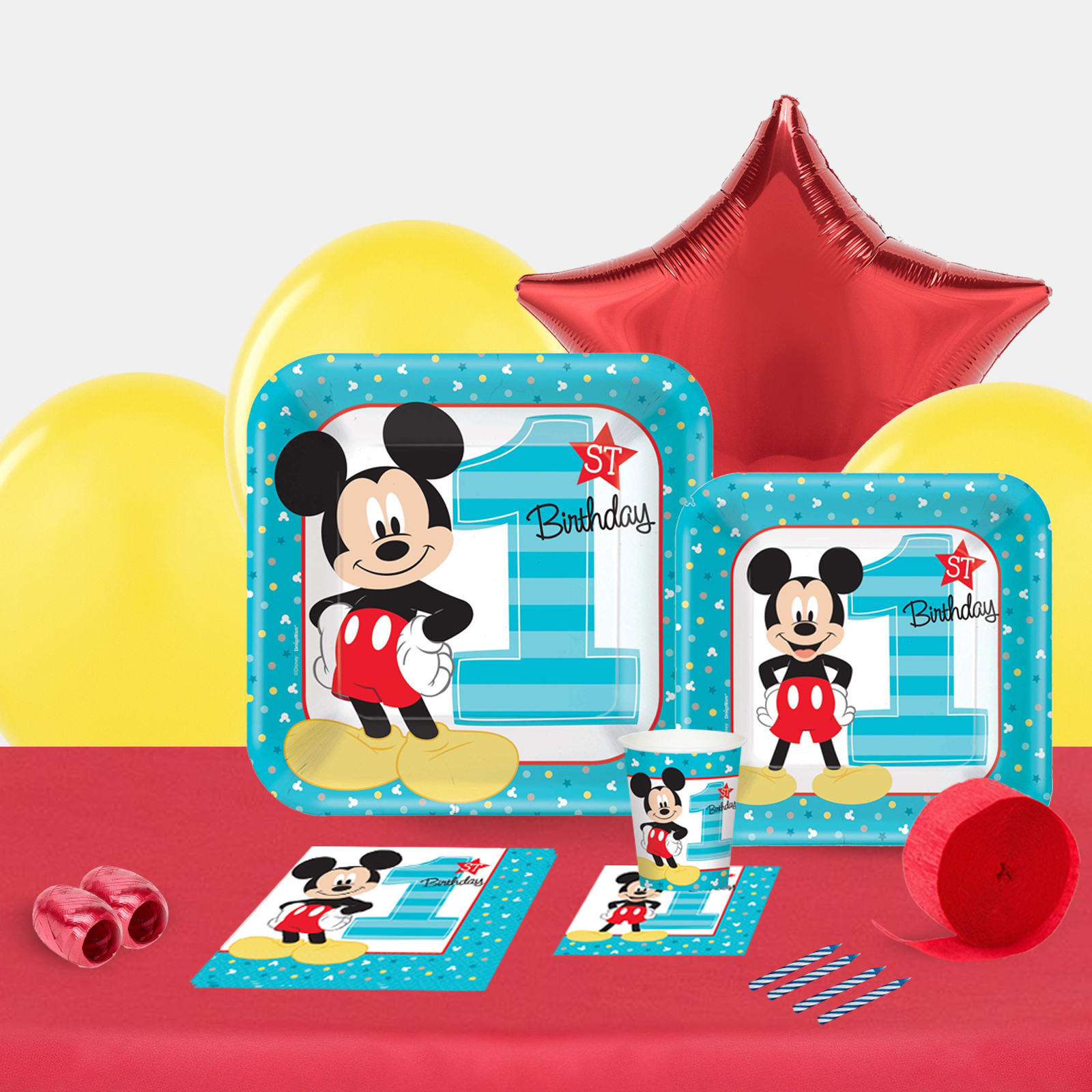 Disney Mickey Mouse 1st Birthday Party in a Box-Basic