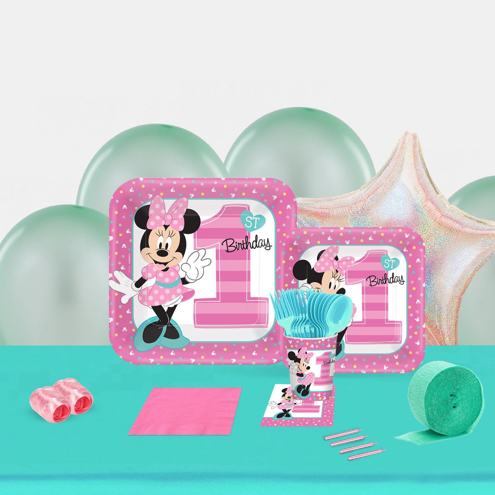 Disney Minnie Mouse 1st Birthday Party in a Box-Basic