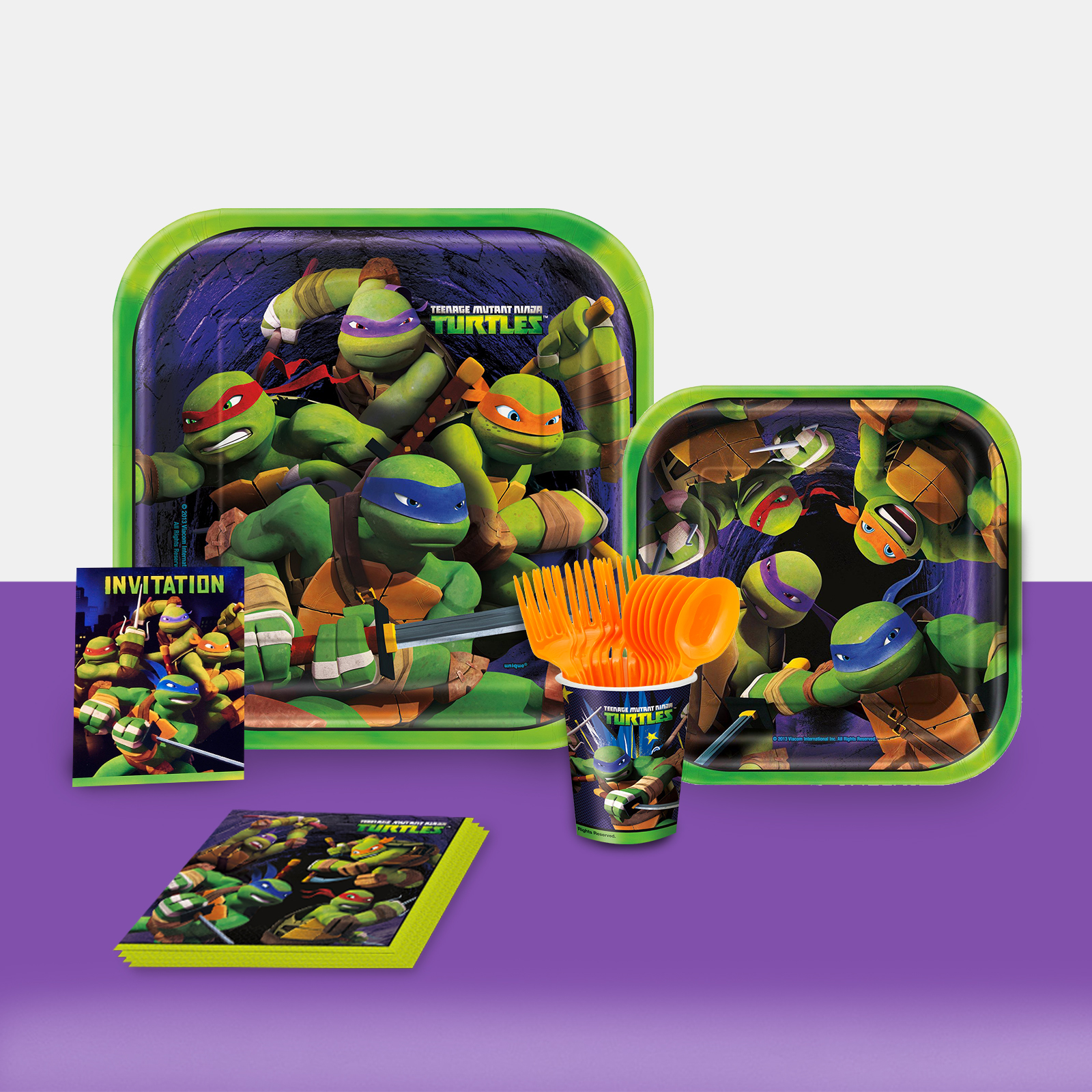Teenage Mutant Ninja Turtles Party in a Box For 16-Basic
