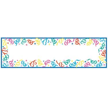 Blank Party Streamer Giant Banner