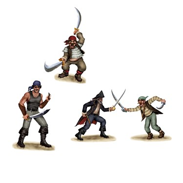 Dueling Pirate & Bandit Props Wall Add-Ons
