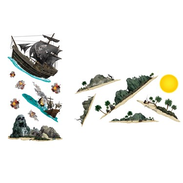 Pirate Ship & Island Wall Add-Ons