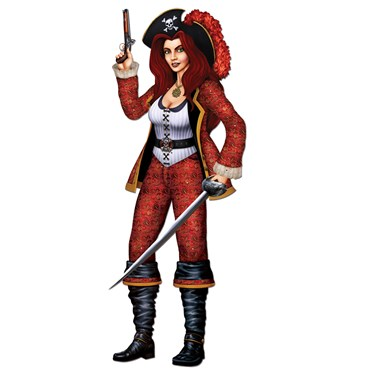 Jointed Bonny Buccaneer Cutout