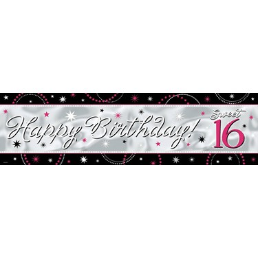 Sweet 16 Sparkle Giant Foil Banner