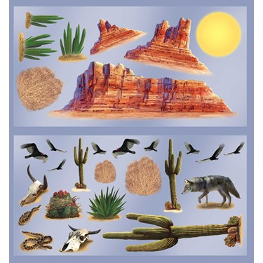 Wild West Desert Props Wall Add-Ons