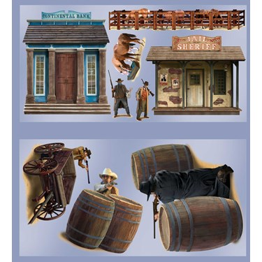 Wild West Shootout Props Wall Add-Ons