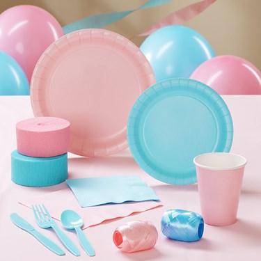 Light Pink & Light Blue Party Supplies