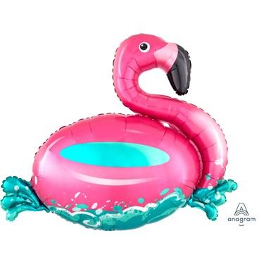 "30"" Floating Flamingo Foil Balloon"