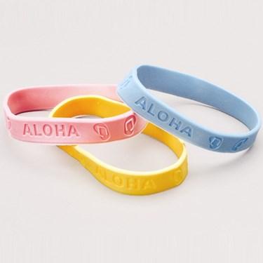 Luau Rubber Band Bracelets Asst.