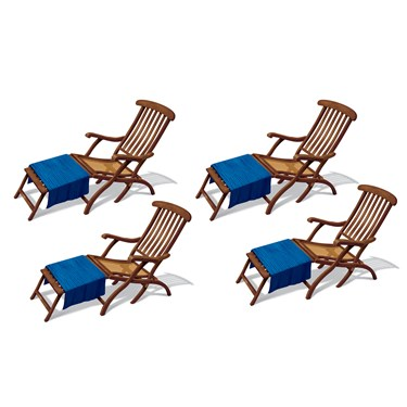 Cruise Ship Deck Chair Props Wall Add-Ons