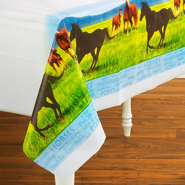 Wild Horses Plastic Tablecover