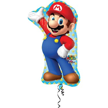 33 Mario Bros Shape Foil Balloon
