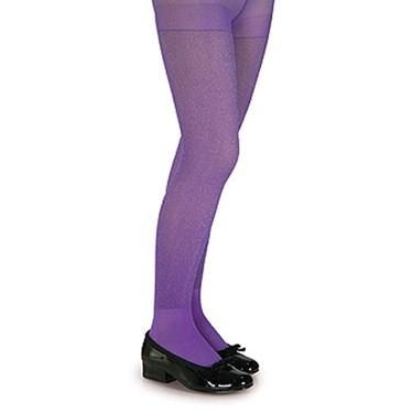 Purple Glitter Tights - Child