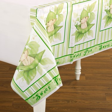 Sweet Pea Plastic Tablecover
