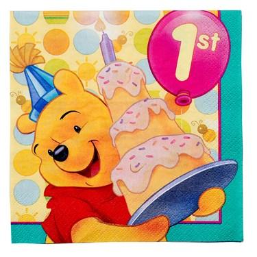 Disney Pooh's 1st Balloon Napkins