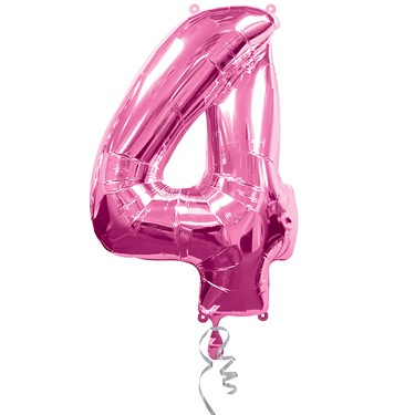#4 Pink Foil Balloon