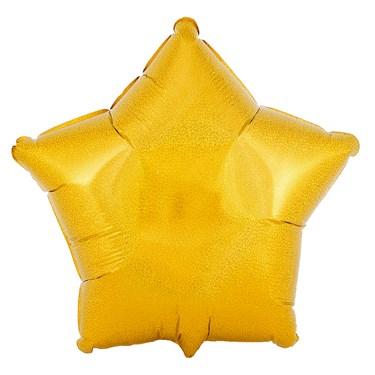 Gold Prismatic Star Foil Balloon