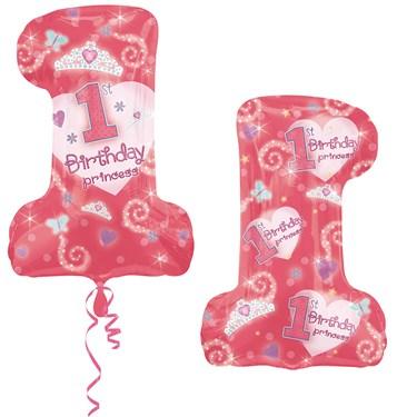 1st Birthday Princess Jumbo Foil Balloon
