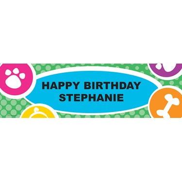 Pet Shop Personalized Birthday Banner