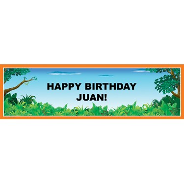 Go! Personalized Birthday Banner