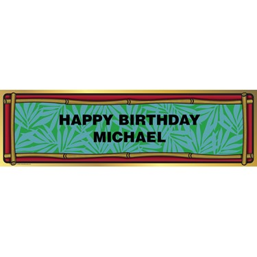 Bamboo Personalized Birthday Banner