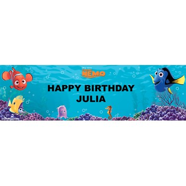 Disney Finding Nemo Personalized Birthday Banner